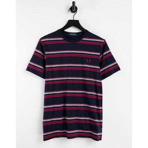 T-shirt à double rayures - Bleu - Fred Perry - Modalova