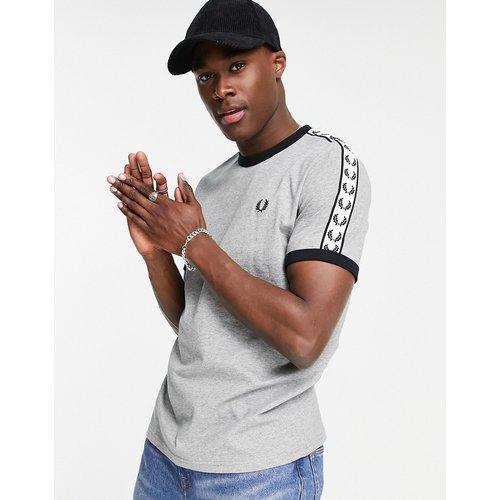 T-shirt avec bordures et bandes contrastantes - clair - Fred Perry - Modalova