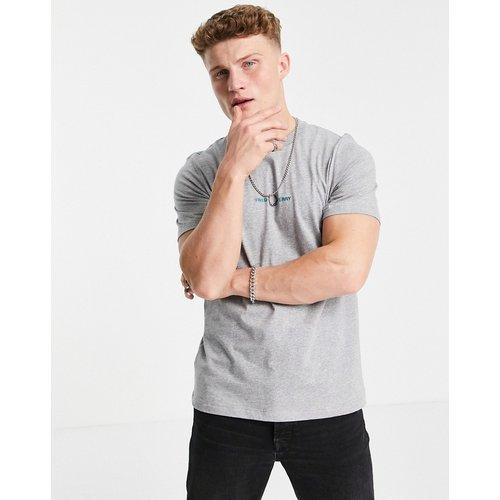 T-shirt brodé - clair chiné - Fred Perry - Modalova