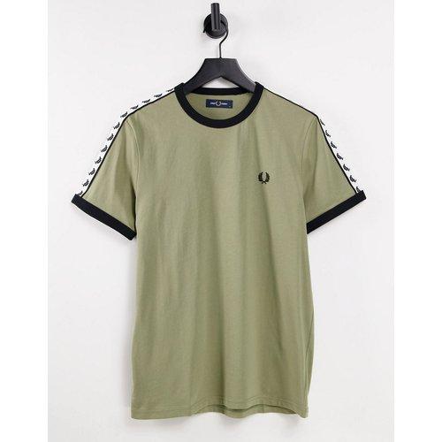 T-shirt fuselé à bordures contrastantes - sauge - Fred Perry - Modalova