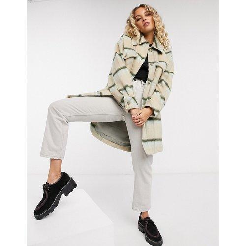 Vienna - Veste chemise à carreaux en laine brossée - Crème - Free People - Modalova
