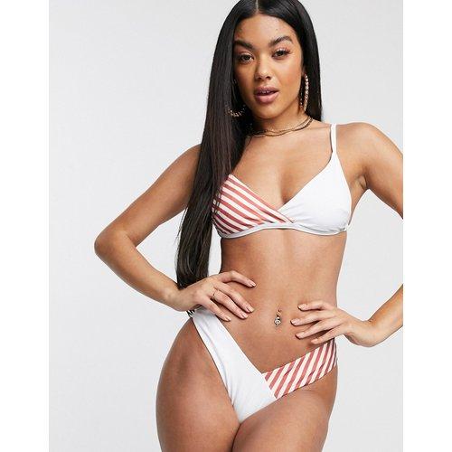 Exclusivité - Eco - Mix and Match - Haut de bikini croisé à rayures - Corail - Free Society - Modalova