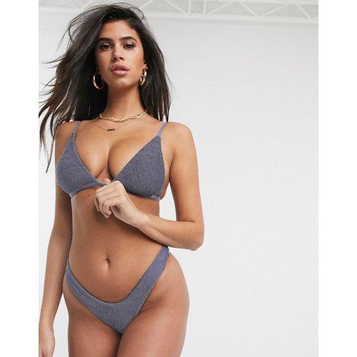 - Mix and Match - Bas de bikini échancré à effet froissé - Anthracite - Free Society - Modalova
