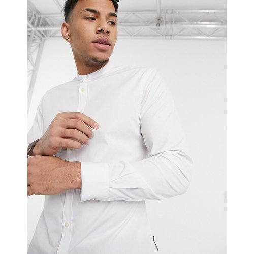 Chemise coupe slim à col grand-père - French Connection - Modalova
