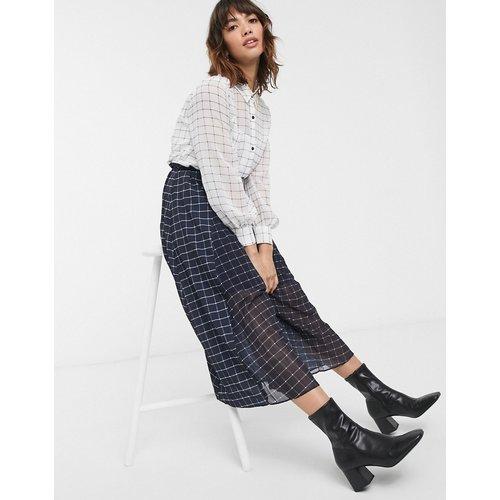 Robe chemise mi-longue avec imprimé carreaux varié - French Connection - Modalova