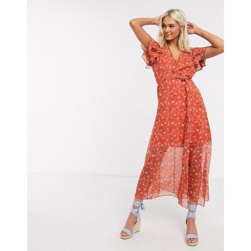 - Robe longue portefeuille à motif fleuri - French Connection - Modalova