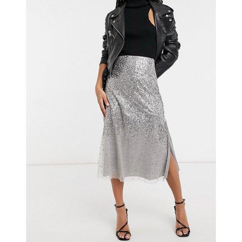Robe mi-longue à sequins - French Connection - Modalova