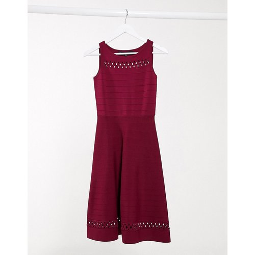 Robe patineuse - Rouge - French Connection - Modalova