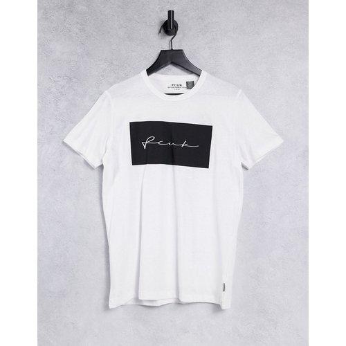 T-shirt à imprimé «FCUK» encadré - French Connection - Modalova