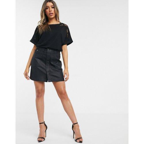 G-Star - Mini-jupe enduite - Noir - G-Star - Modalova