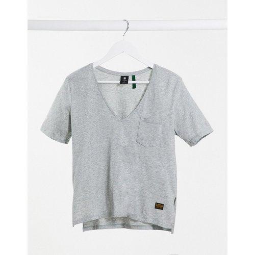 - T-shirt col V avec poche sur le devant - G-Star - Modalova