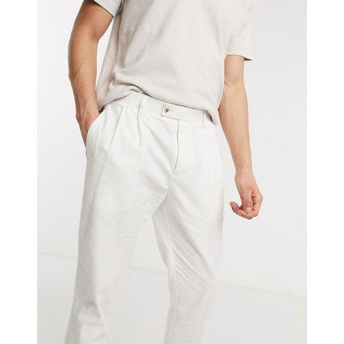 Pantalon plissé en lin - Gianni Feraud - Modalova