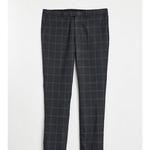 Plus - Pantalon de costume ajusté à grands carreaux - Gianni Feraud - Modalova