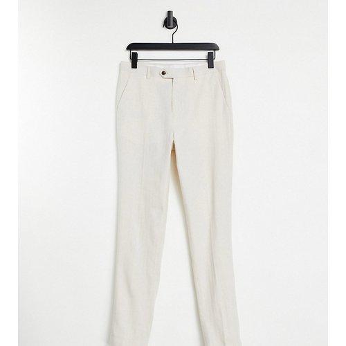 Tall Wedding - Pantalon de costume court ajusté en lin - Gianni Feraud - Modalova