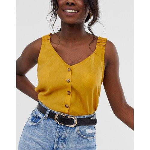 Ceinture taille ou hanches pour jean effet croco avec deux boucles dorées - Glamorous - Modalova