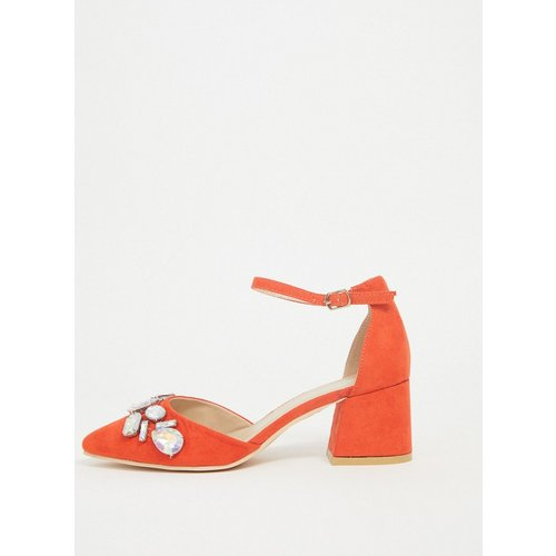 Chaussures à talons bas ornées de pierres fantaisie - Glamorous - Modalova