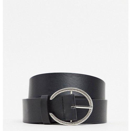 Ceinture taille et hanches avec boucle ronde argentée minimaliste - Glamorous Curve - Modalova