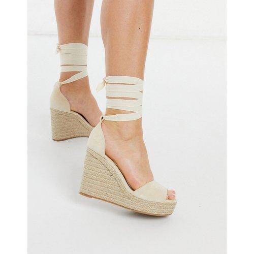 Espadrilles style sandales compensées - Naturel - Glamorous - Modalova