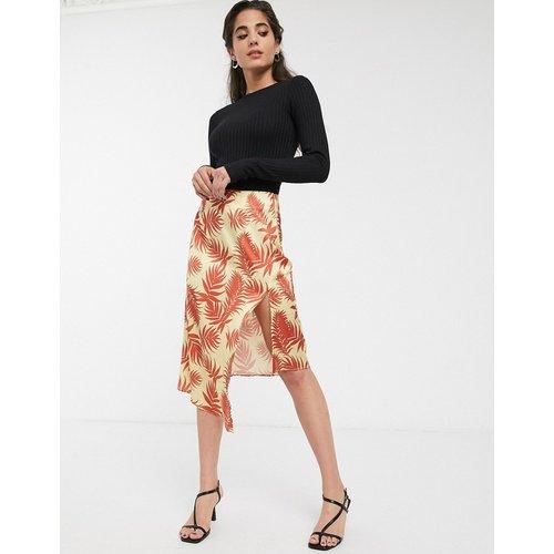 Jupe mi-longue asymétrique avec brandebourgs et imprimé palmier - Glamorous - Modalova