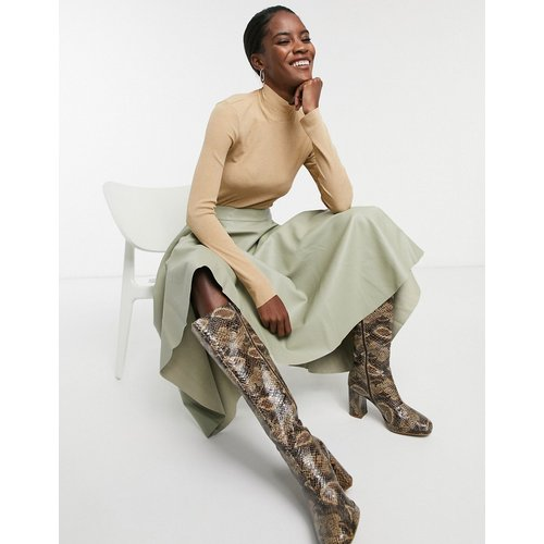 Jupe mi-longue en imitation cuir - Glamorous - Modalova