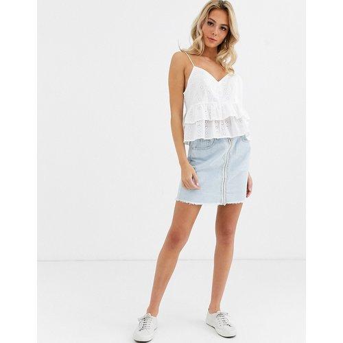 Mini-jupe en jean avec fermeture éclair sur le devant - Glamorous - Modalova
