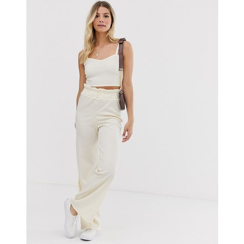 Pantalon large décontracté d'ensemble en maille fine - Glamorous - Modalova