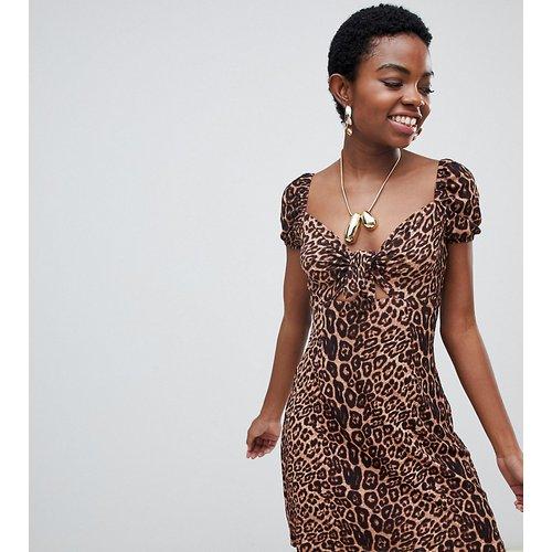 Robe à imprimé léopard nouée sur le devant - Glamorous Petite - Modalova