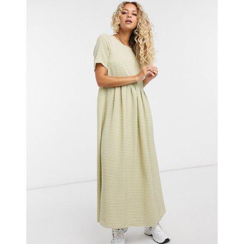 - Robe babydoll longue à carreaux effet quadrillage - Glamorous - Modalova