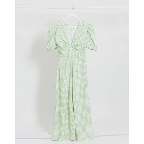 Robe mi-longue à carreaux texturés - Glamorous - Modalova