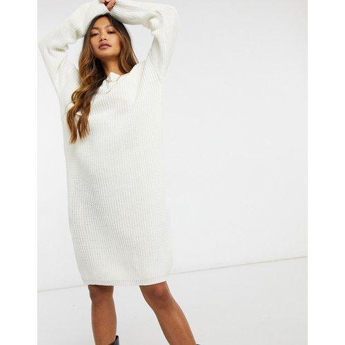 Robe pull mi-longue en maille avec encolure échancrée au dos et bordure en dentelle - Glamorous - Modalova