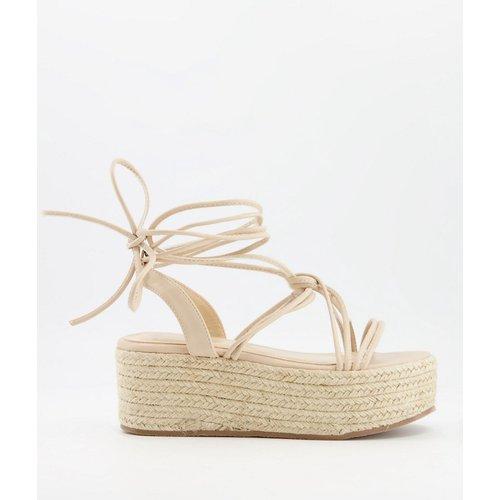 Sandales à plateforme style espadrilles - Blush - Glamorous - Modalova