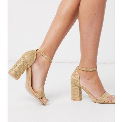 Sandales à talons carrés - raphia - Glamorous - Modalova