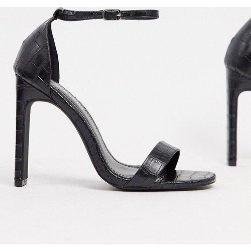 Sandales minimalistes à talons - effet croco - Glamorous - Modalova