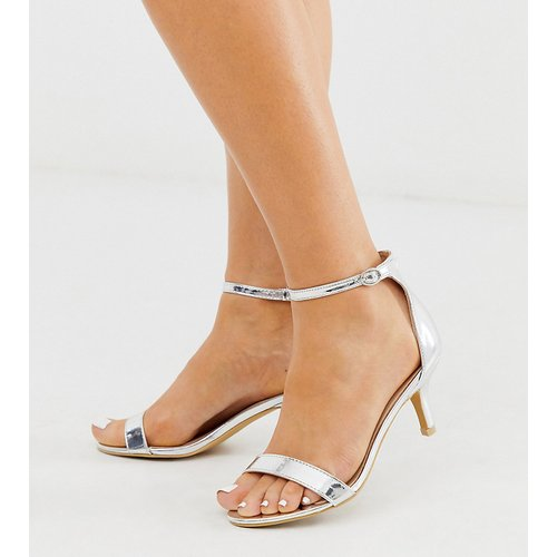 Glamorous - Sandales pointure large à talon bobine effet miroir - é - Glamorous Wide Fit - Modalova