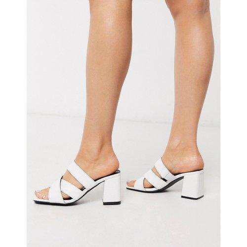 Sandales style mules à talon carré - imitation croco - Glamorous - Modalova
