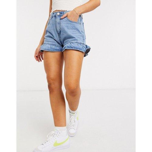 Short en jean avec ourlets à volant - Glamorous - Modalova