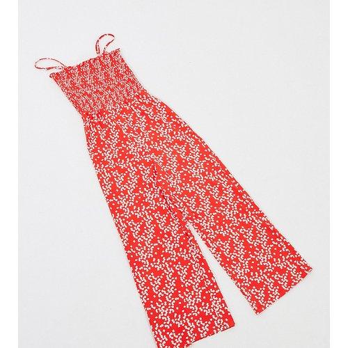 Combinaison large à imprimé petites fleurs avec corsage froncé - Glamorous Tall - Modalova