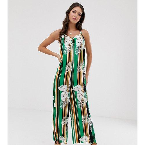 Combinaison minimaliste style caraco à imprimé rayures motif palmiers - Glamorous Tall - Modalova