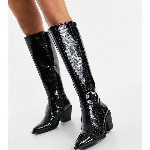 Bottes style western hauteur genoux - Glamorous Wide Fit - Modalova