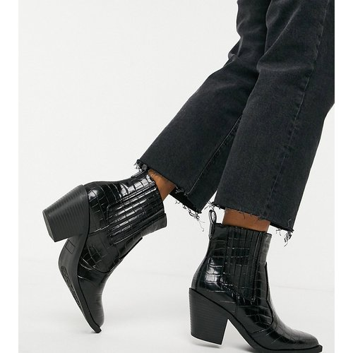 Bottines style western - croco - Glamorous Wide Fit - Modalova