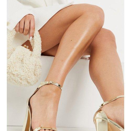 Sandales à talon carré - miroir - Glamorous Wide Fit - Modalova