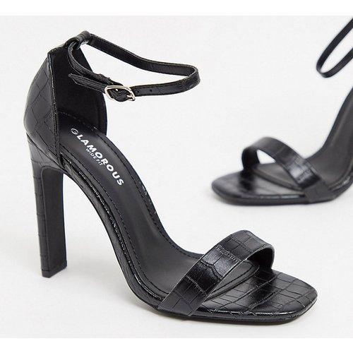 Sandales à talons - croco - Glamorous Wide Fit - Modalova