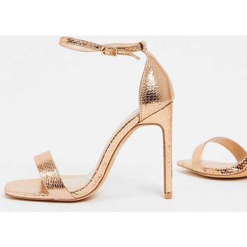 Sandales à talons - Or rose - Glamorous Wide Fit - Modalova