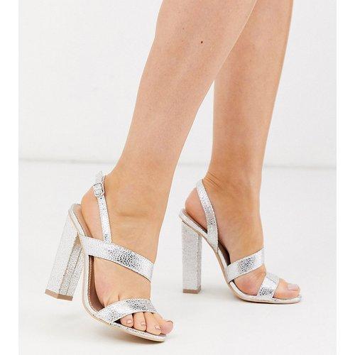 Sandales asymétriques à talons carrés - Glamorous Wide Fit - Modalova