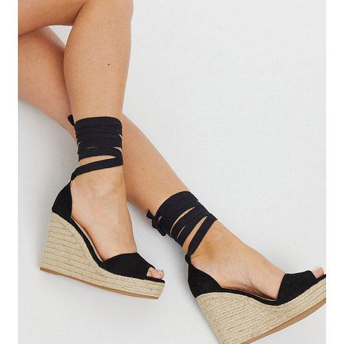 Sandales compensées style espadrilles - Glamorous Wide Fit - Modalova