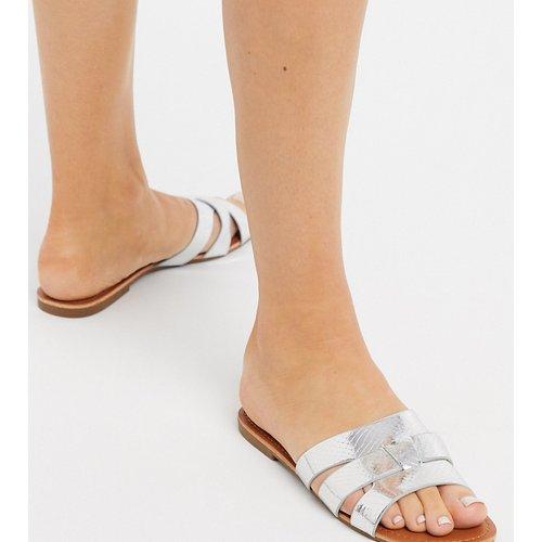 Sandales effet peau de serpent métallisé - é - Glamorous Wide Fit - Modalova
