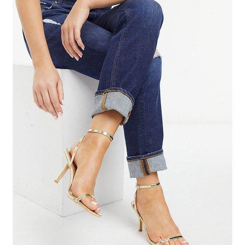 Sandales minimalistes à talon - Glamorous Wide Fit - Modalova