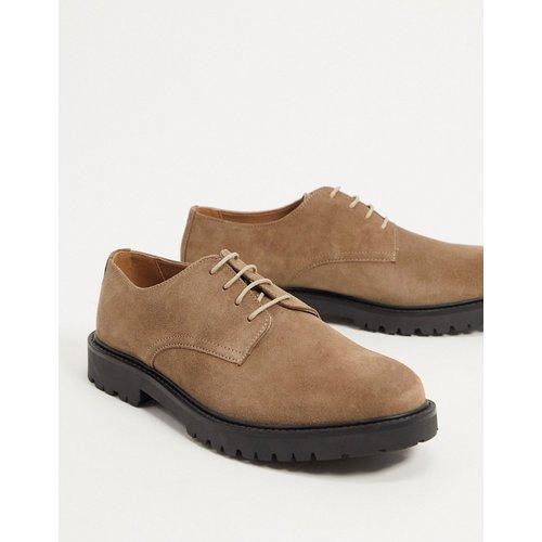 Atol- Chaussures chunkyen daim à lacets - Taupe - H by Hudson - Modalova