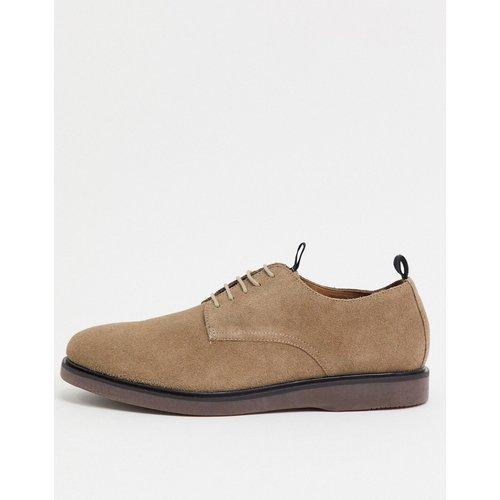 Barnstable - Chaussures en daim à lacets - Taupe - H by Hudson - Modalova