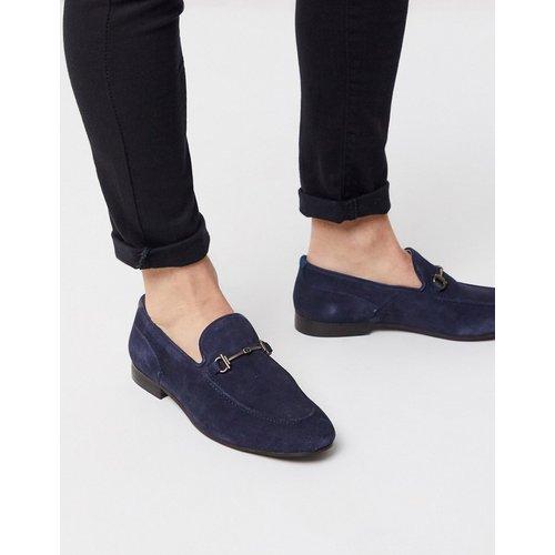 Blythe - Chaussures en daim avec détail barre - Bleu marine - H by Hudson - Modalova